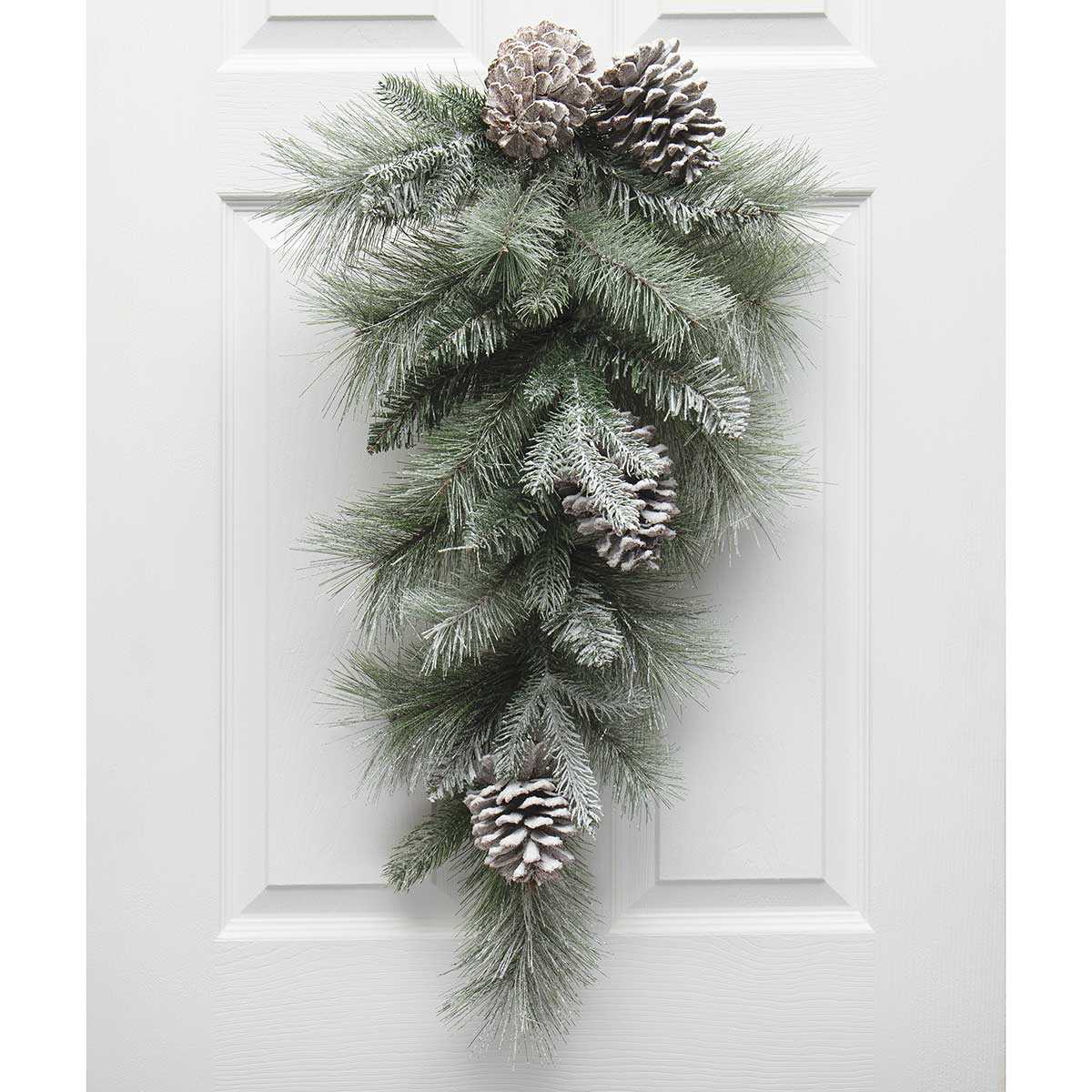 MAJESTIC FROSTED PINE BOUGH GREEN WITH PINECONES AND