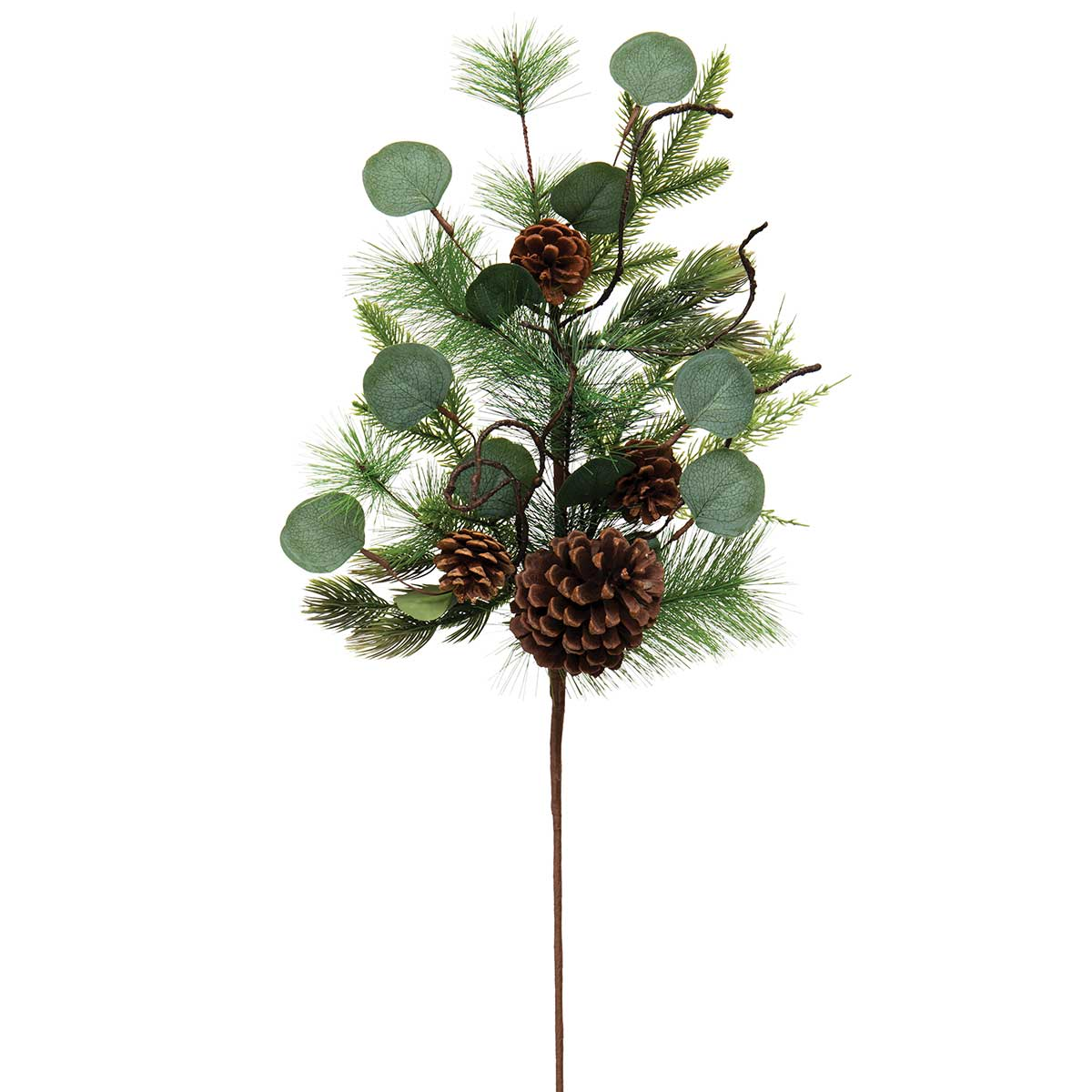 FRESH CUT PINE SPRAY WITH EUCALYPTUS, FAUX TWIGS AND