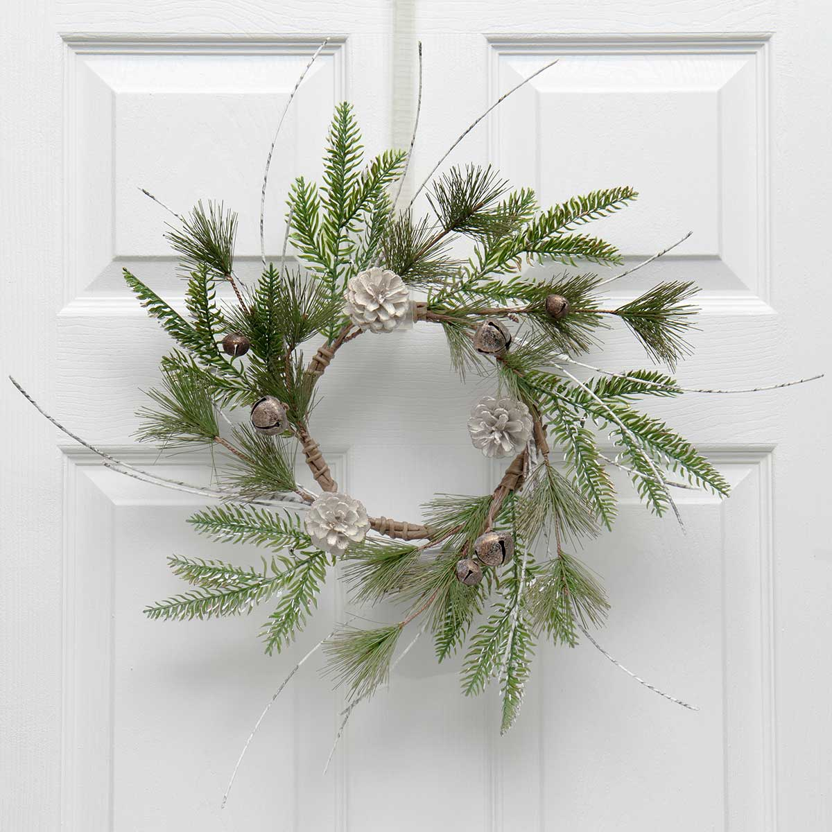 BIRCH & PINE MINI WREATH WITH JINGLE
