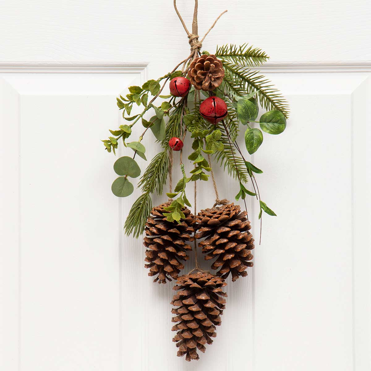 PINECONE X3 DROP ORNAMENT WITH PINE,