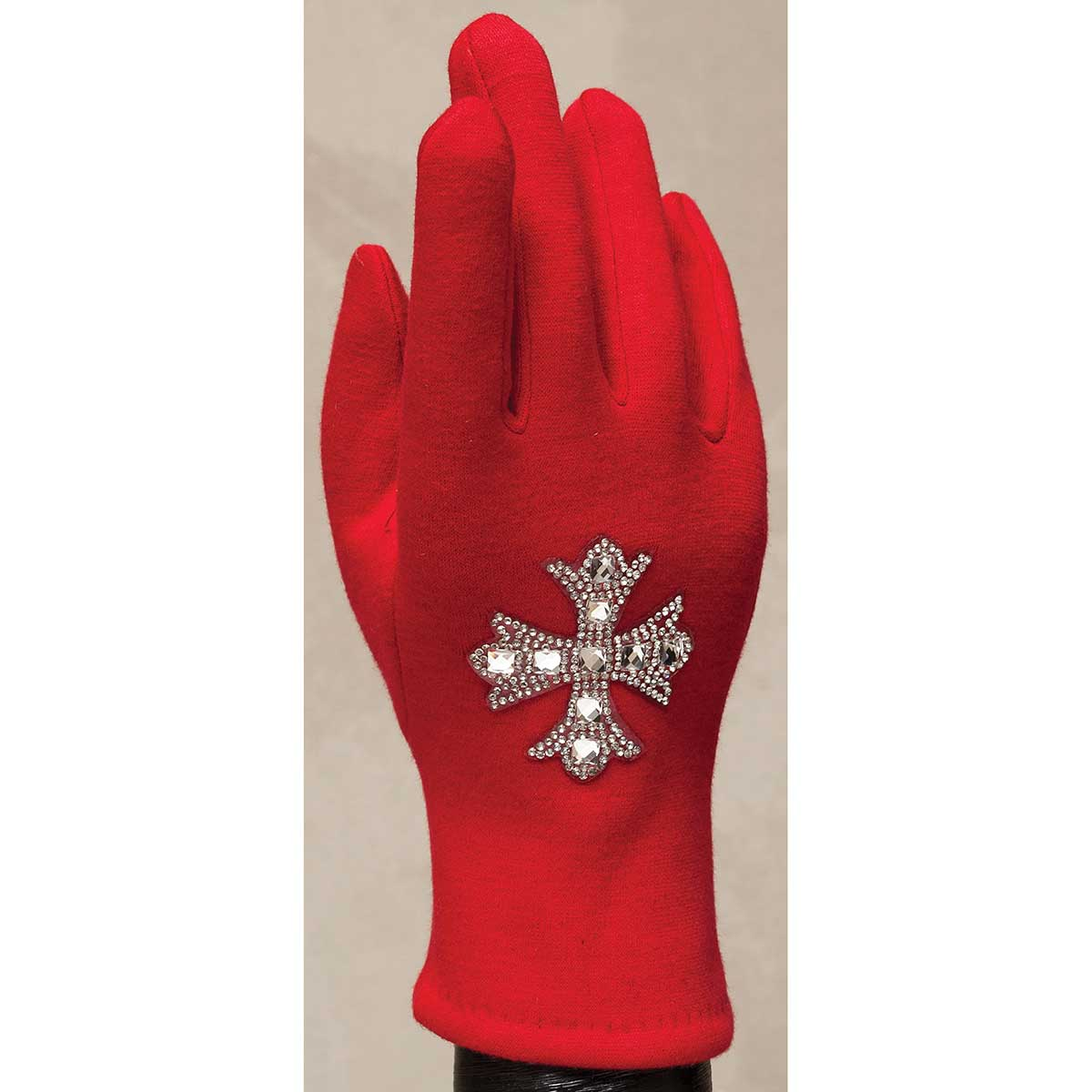 Red Gloves with Crystal Southern Cross 50sp