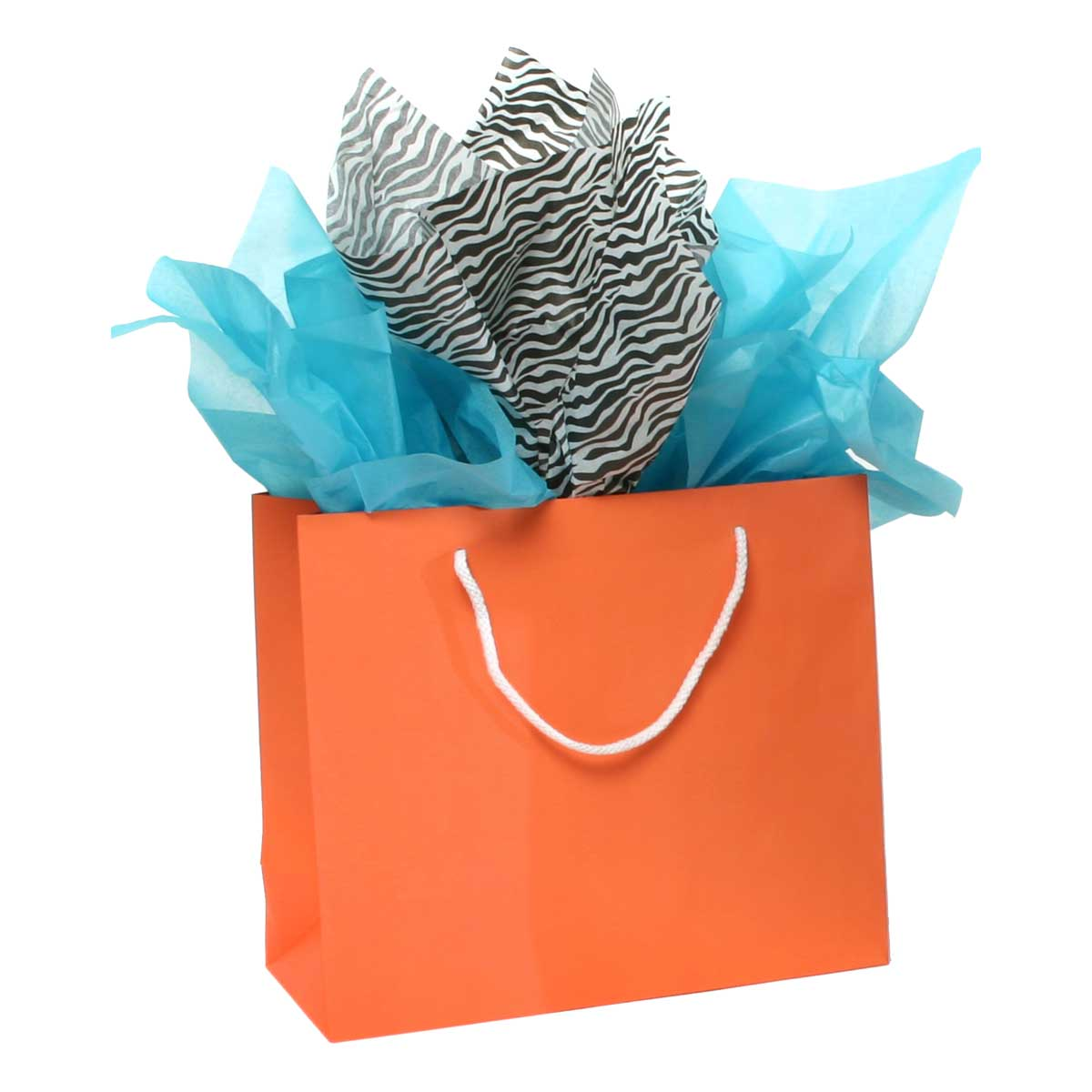PAPER SHOPPING BAG WITH HANDLE CORAL 70sp