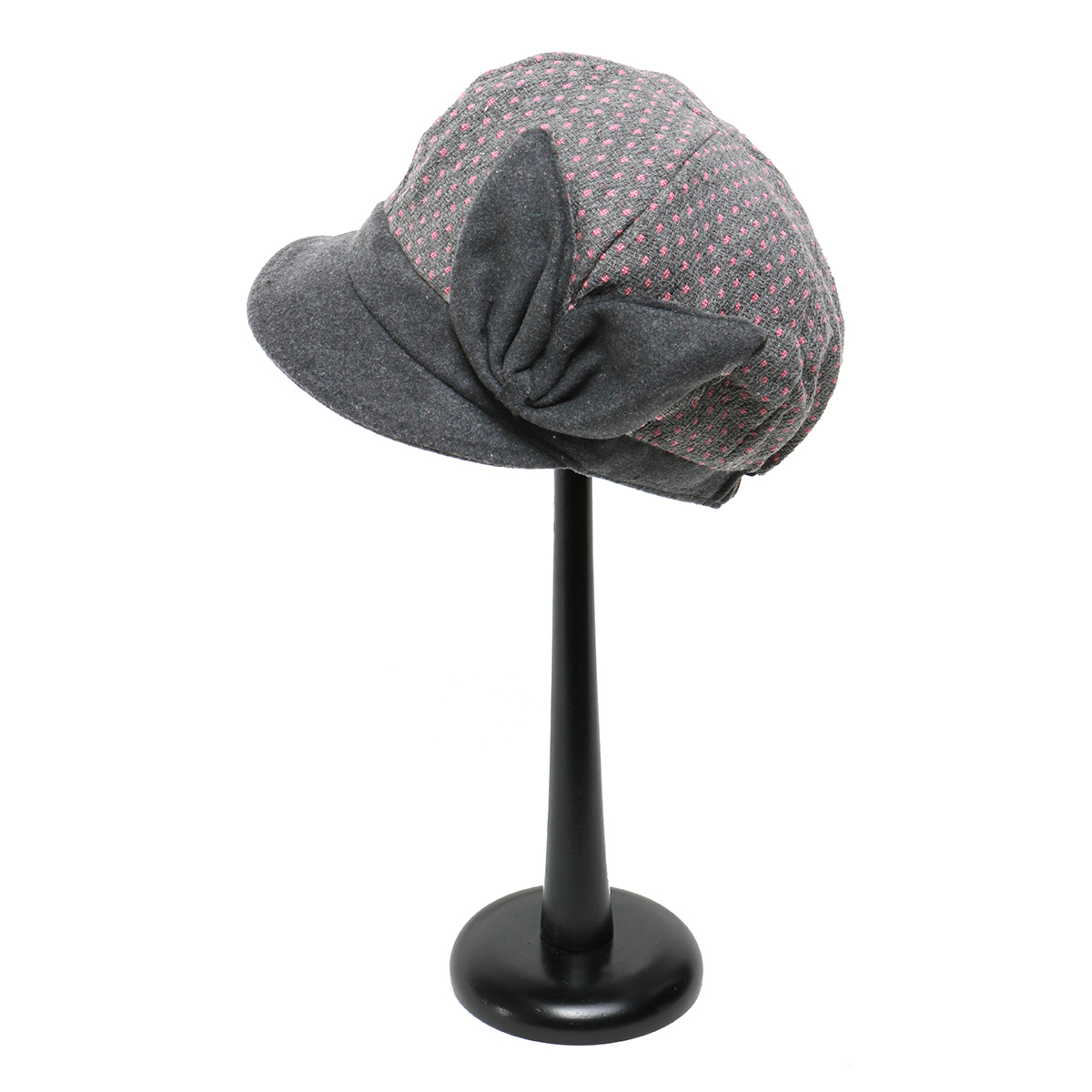 GREY PINDOT HAT WITH BOW 50sp
