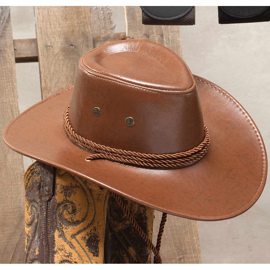 BROWN STAMPEDE HAT 50sp
