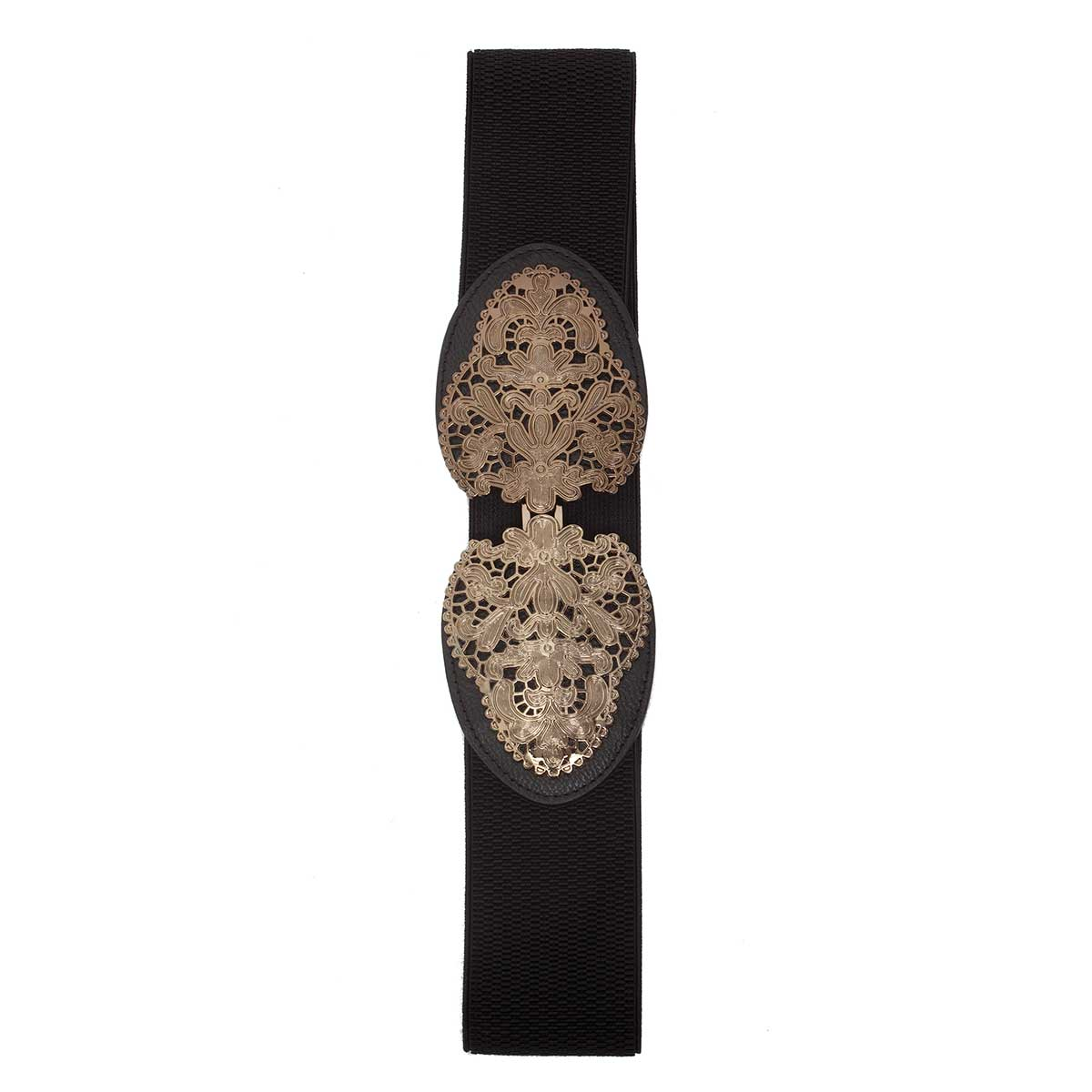BLACK ANT FILIGREE STRETCH BELT