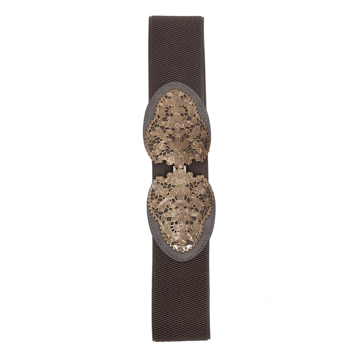 GRAY ANT FILIGREE STRETCH BELT
