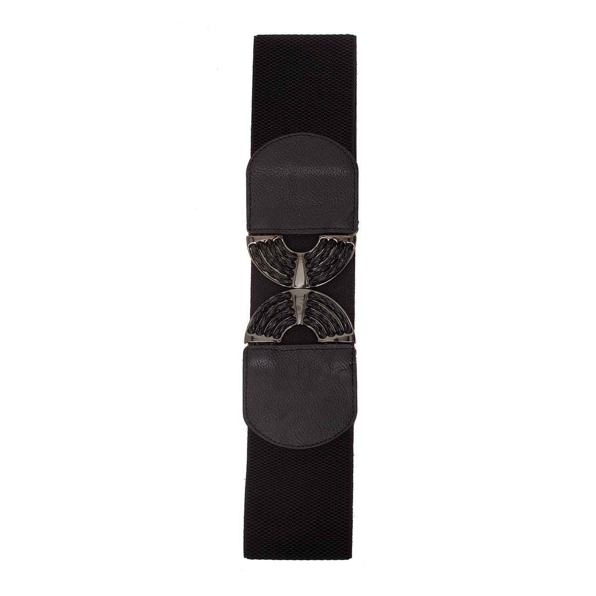 BK GUNMETAL BUCKLE STRETCH BELT