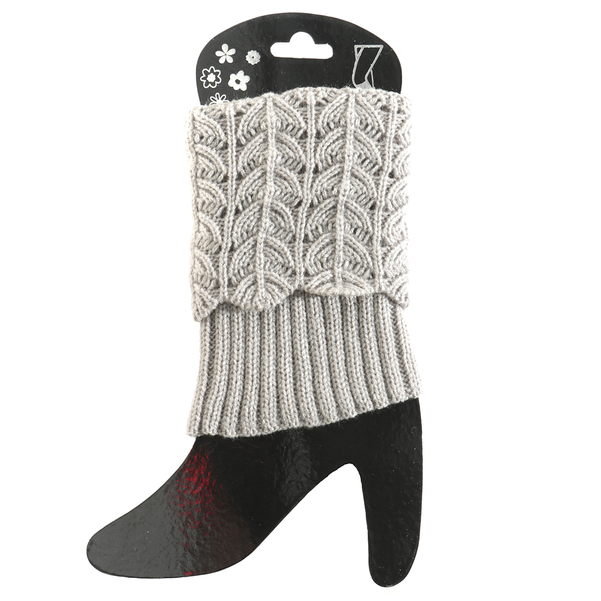 Grey Crochet Boot Cuff Short 50sp