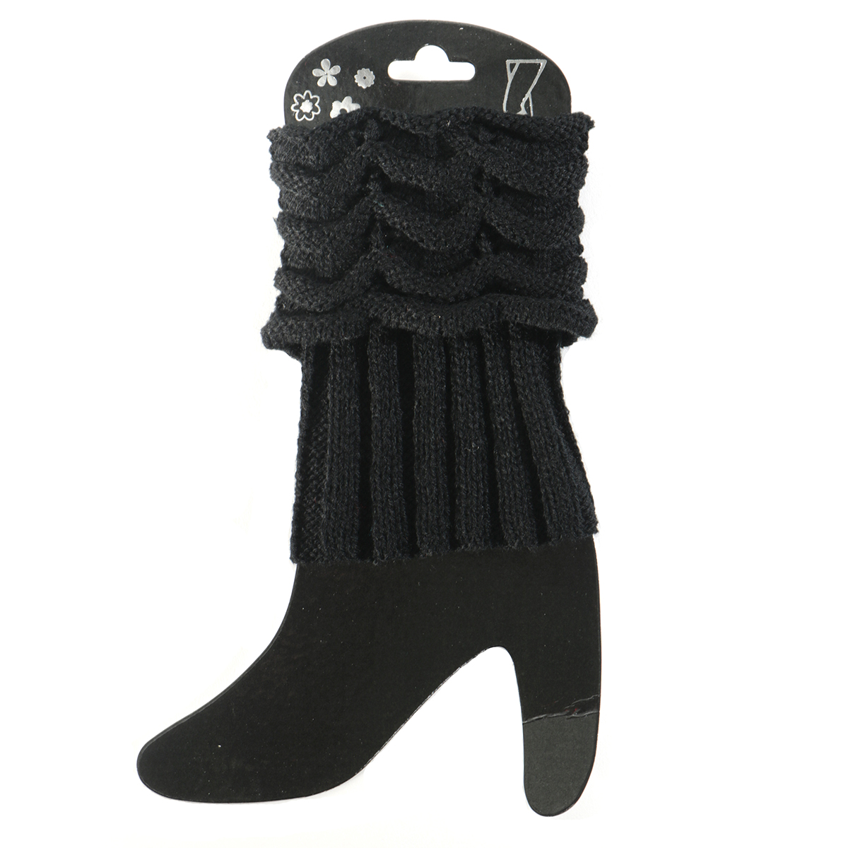 Black Scrunched Boot Cuff 50sp