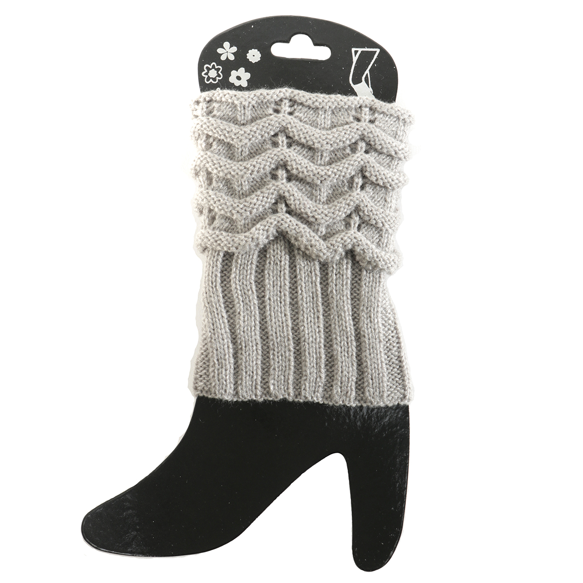 Grey Scrunched Boot Cuff 50sp
