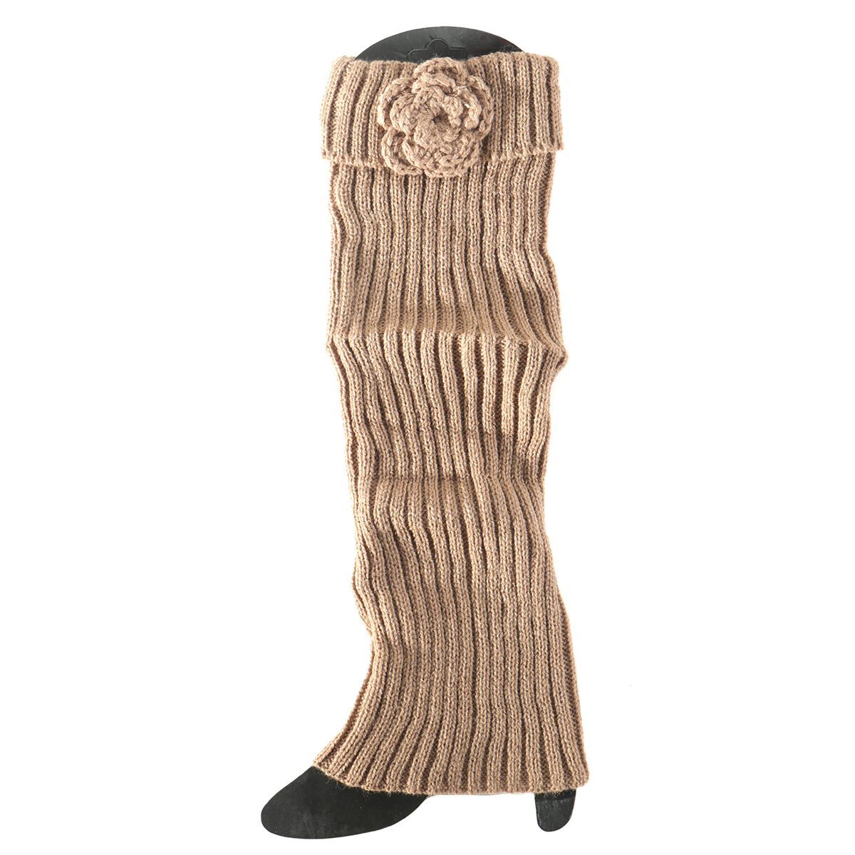 Tan Boot Cuff with Flower Tall 50sp