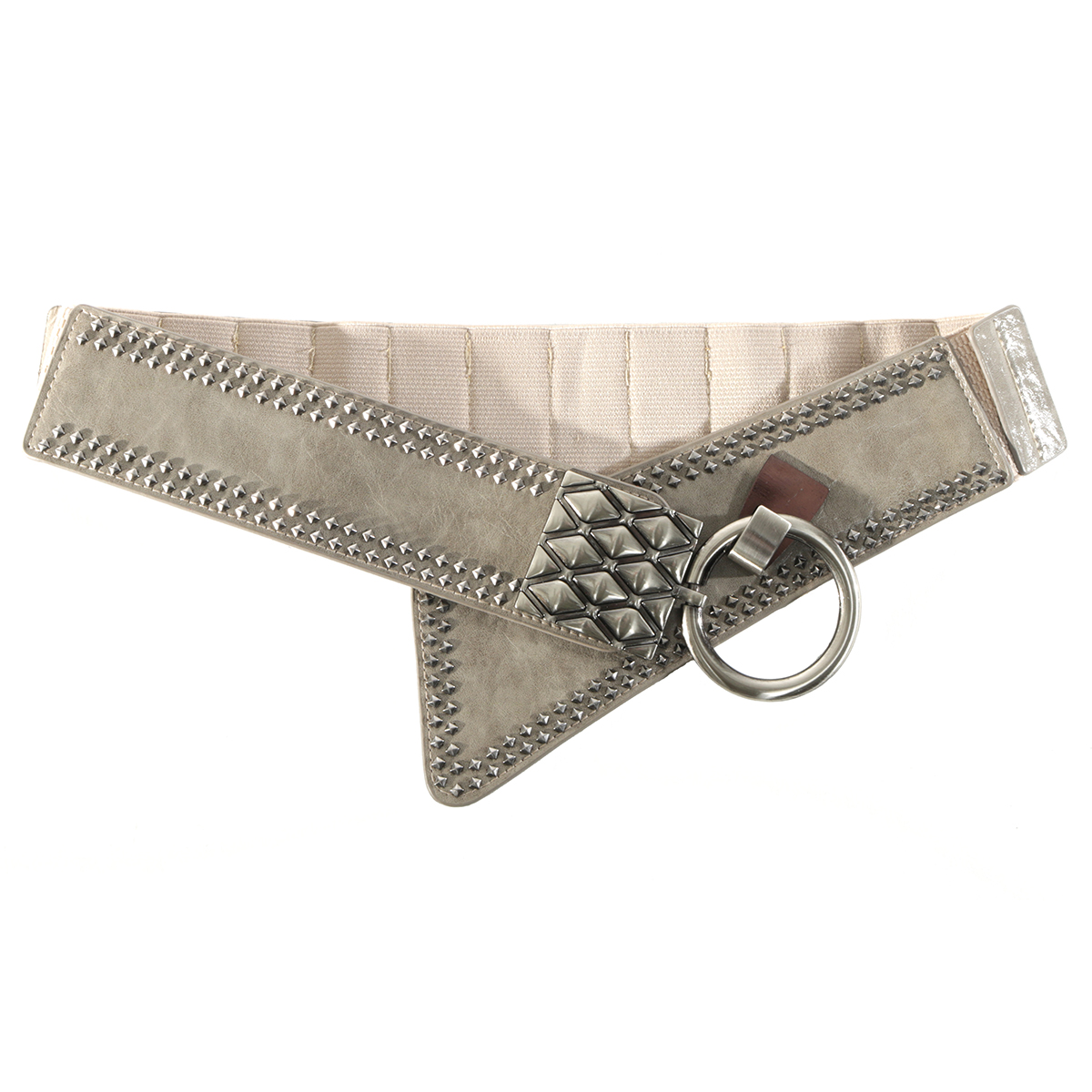 "Grey 37"" RIVET BELT"
