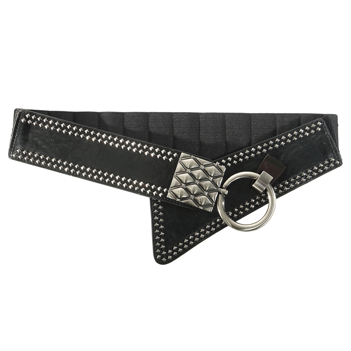 "BLK 37"" RIVET BELT"