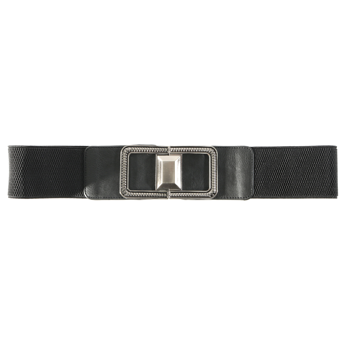 "BLK 31"" SQUARE BUCKLE BELT"