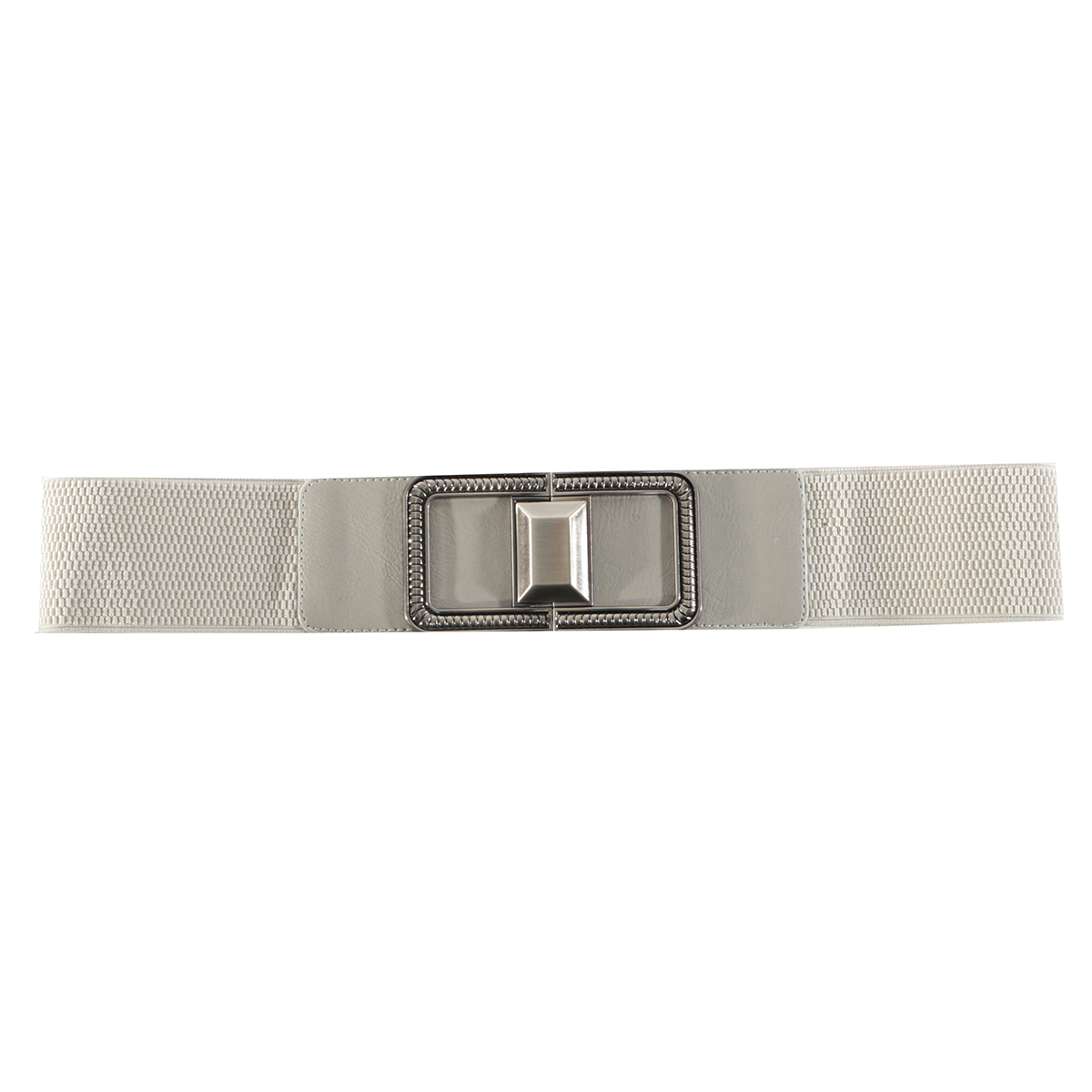 "Grey 31"" SQUARE BUCKLE BELT"