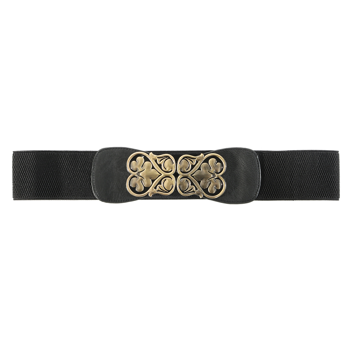 "BLK 31"" HEART BUCKLE BELT"