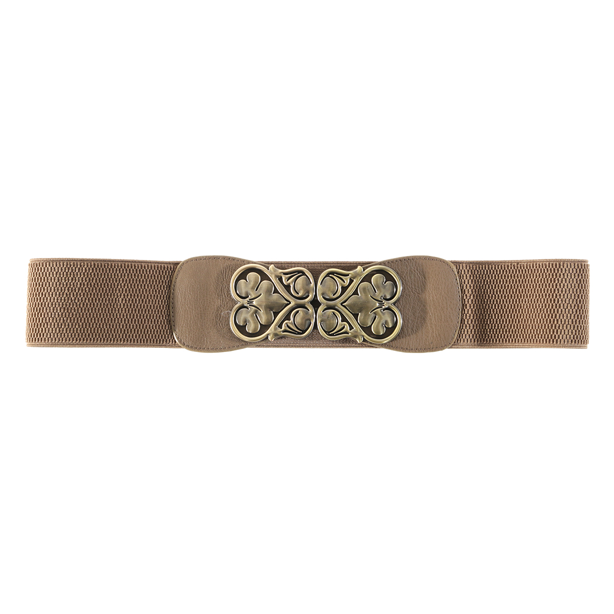 "BROWN 31"" HEART BUCKLE BELT"