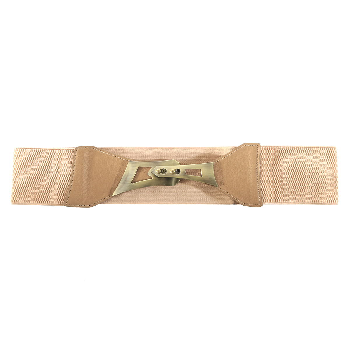 "TAN 35"" BRONZE BUCKLE BELT"