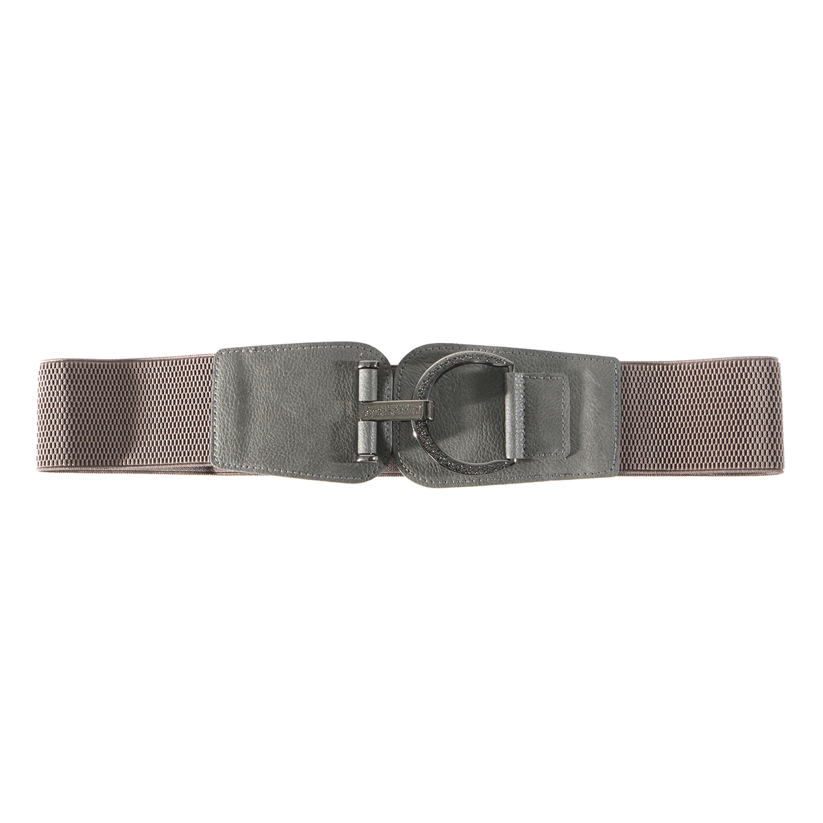 "Grey 35"" FANCY BUCKLE BELT"