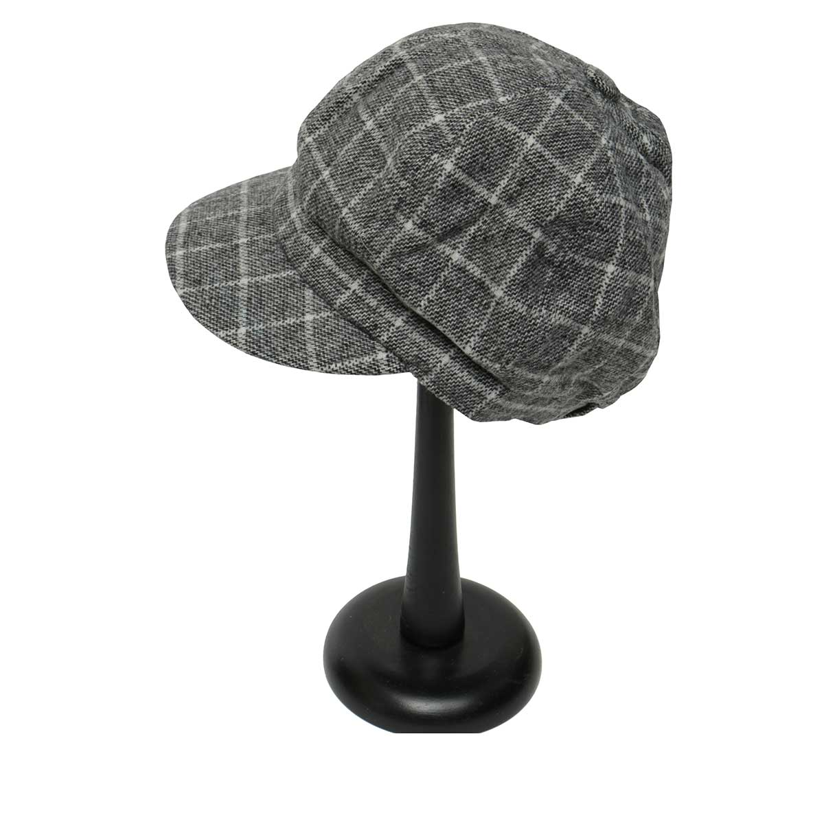 Grey PLAID SLOUCH HAT