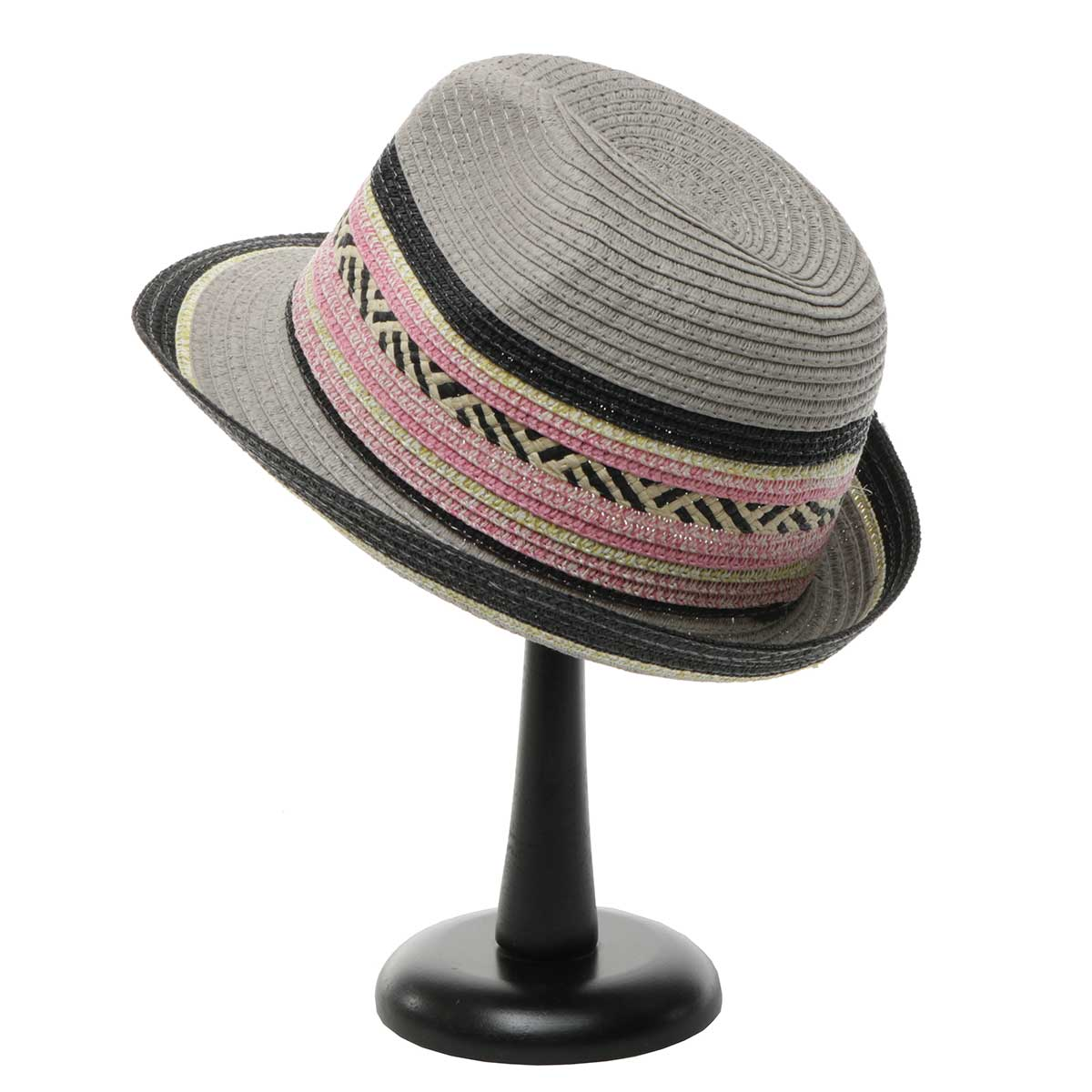 Grey Havana Hat with Decorative Band