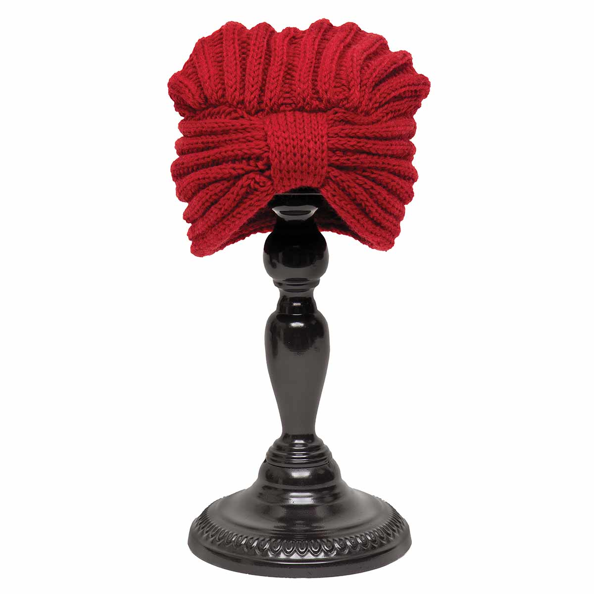 Red Knit Cloche Hat with Band